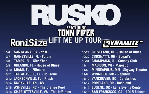 Lift Me Up Tour ft Rusko @ Monarch Theatre - Monday, November 18, 2013